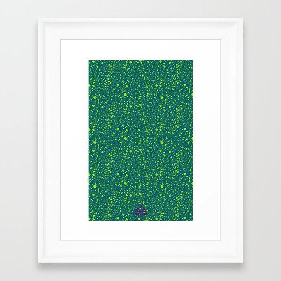 Trail Status / Mountain Teal Framed Art Print