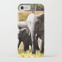 elephants iPhone & iPod Cases featuring Elephants by Regan's World