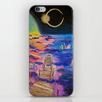 Space Clouds Crystals  iPhone & iPod Skin