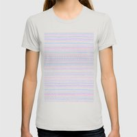 Pattern Womens Fitted Tee Silver SMALL