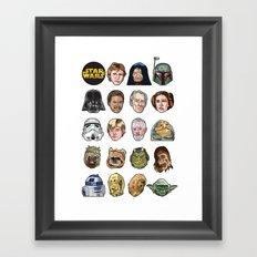 Star Wars Portraits Set Framed Art Print