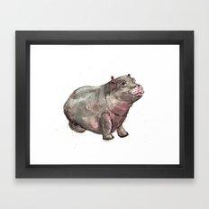 Hippo Lumpkin Framed Art Print