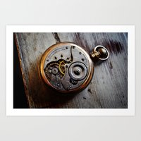 The Conductor's Timepiec… Art Print