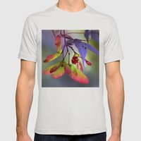 Japanese Maple Seeds Mens Fitted Tee Silver SMALL