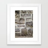 Hokie Stone Framed Art Print