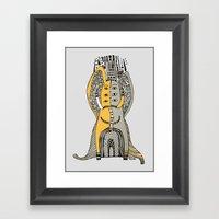 Yellow Elephant Framed Art Print
