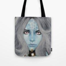 Alien warrior girl Tote Bag