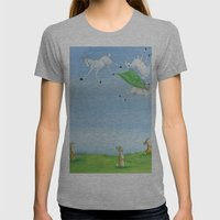 Sheep Shenanigan's Womens Fitted Tee Athletic Grey SMALL