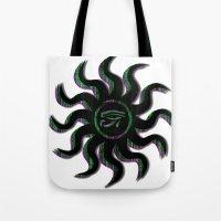 Green Egyptian Sun Tote Bag