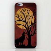 Full Moon/red iPhone & iPod Skin