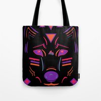 Eighties Wolf Tote Bag