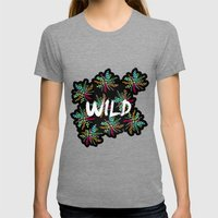 Wild Womens Fitted Tee Tri-Grey SMALL