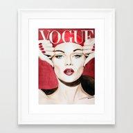 Vogue Magazine Cover. Va… Framed Art Print