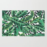 Rug featuring Tropical Glam Banana Lea… by Nikki