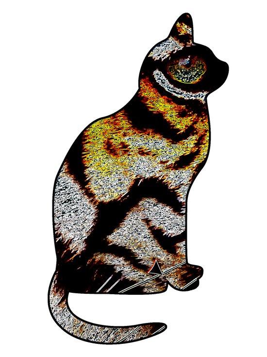 CAT TIGER Art Print