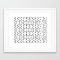 Karthuizer Grey & White Pattern Framed Art Print