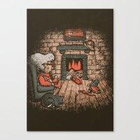 A Hard Winter Canvas Print