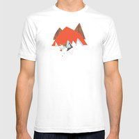 Party In The Mountains//… Mens Fitted Tee White SMALL