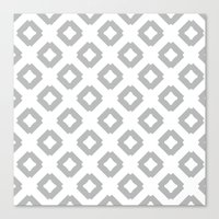 Graphic_Tile Grey Canvas Print