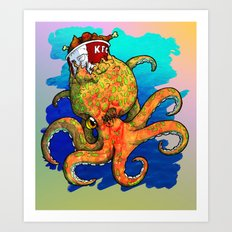 The Octopus and the Chicken Art Print