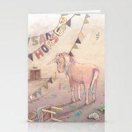 Sad Horse (the Unicorn) Stationery Cards