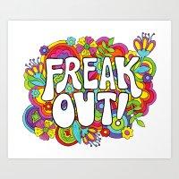 Freak Out! Art Print