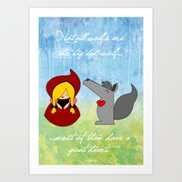 Little Red Riding Hood & Lovely Wolf ♥ Art Print