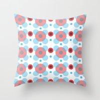 Dots Bubbles  Throw Pillow