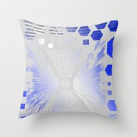 Digitize (White Background) Throw Pillow