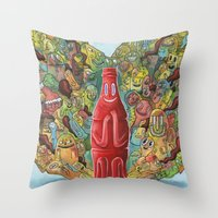I'd Like to Buy the World a Smile Throw Pillow