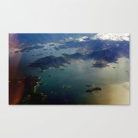 view from the air Canvas Print