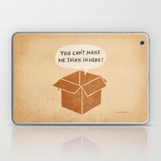 you can't make me think in here Laptop & iPad Skin