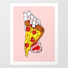 Pizza Slut Art Print