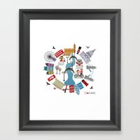 I {❤} London Framed Art Print