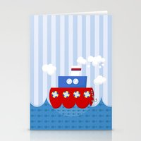 little boat Stationery Cards