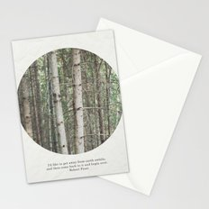 robert frost's birch trees Stationery Cards