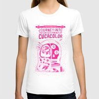 journey in to the ghastly mind of cucacolor Womens Fitted Tee White SMALL