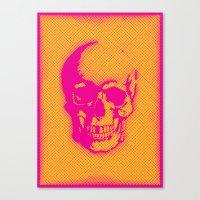 A Skull Canvas Print