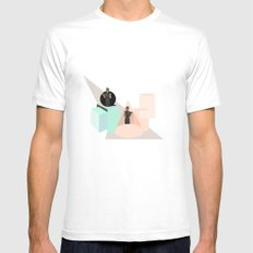 Not Constant White Mens Fitted Tee SMALL