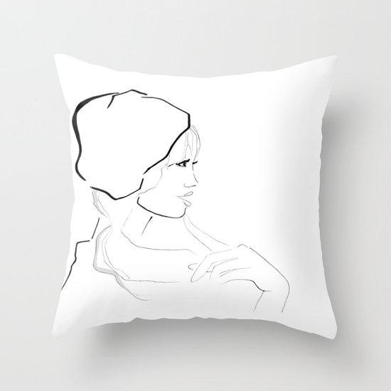 In France Throw Pillow