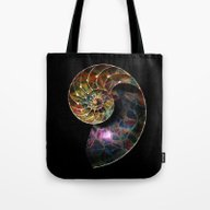 Fossilized Nautilus Shel… Tote Bag
