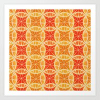 Orange Slice Pattern Art Print