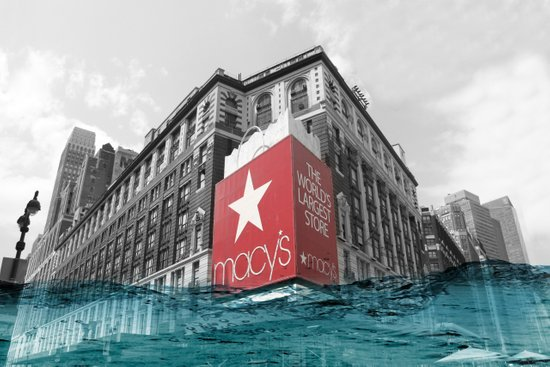 Macy's water line Canvas Print