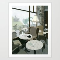 Cafe With A View Of The … Art Print