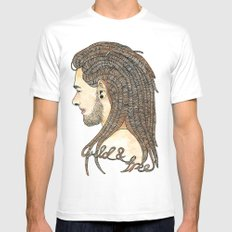 wild & free Mens Fitted Tee White SMALL