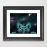 The Universe Creature Framed Art Print