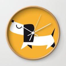 Yelow Dog Wall Clock