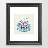 Music Cat Framed Art Print