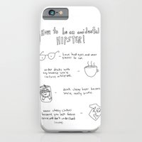 iPhone & iPod Case featuring How to be an accidental hipster by Brittany Metz