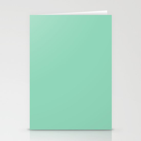 Mint Green Stationery Card